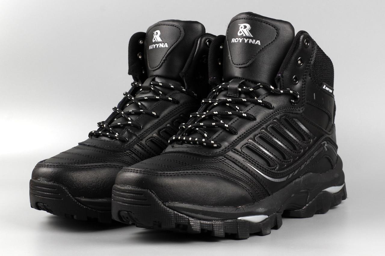 Ботинки мужские черные Royyna 019C-6 Ройна Бона Bona Размеры 41 42 43 44 45