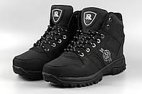 Ботинки мужские черные Royyna 018D-6 Ройна Бона Bona Размеры 42 43 44 45 46, фото 1