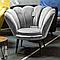 Кресло MAGNOLIA Velvet 1 Venge Signal Серый **, фото 3