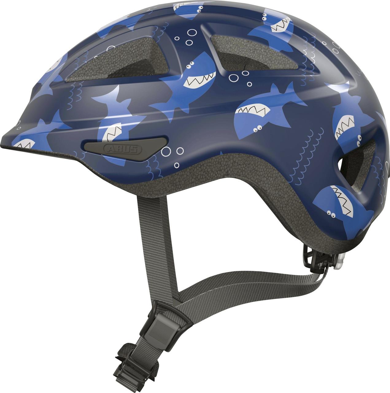 Велосипедный детский шлем ABUS ANUKY 2.0 ACE S 46–51 Blue Sharky