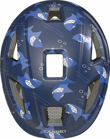 Велосипедный детский шлем ABUS ANUKY 2.0 ACE S 46–51 Blue Sharky, фото 2