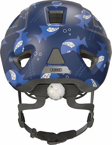 Велосипедный детский шлем ABUS ANUKY 2.0 ACE S 46–51 Blue Sharky, фото 3