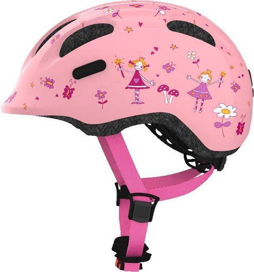 Велосипедный детский шлем ABUS SMILEY 2.0 M 50-55 Rose Princess, фото 2