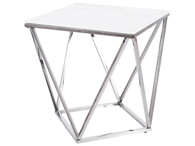 Журнальний столик SILVER B II Signal 50x50 Білий