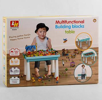 Двухсторонний детский столик для рисования и игры с конструктором Игровой столик в комплекте конструктор
