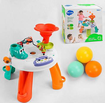 Музыкальный развивающий центр с лабиринтом и шариками Интерактивный музыкальный столик для детей от года