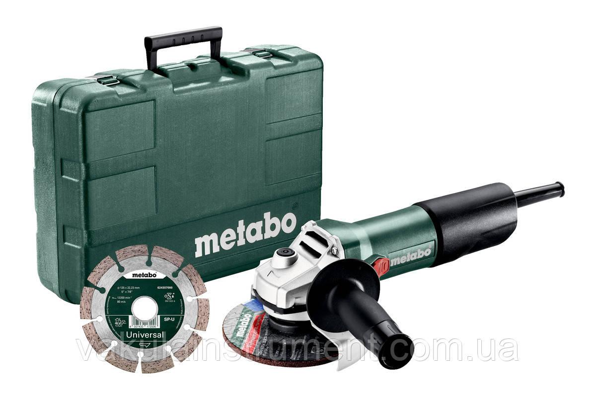 Кутова шліфувальна машина Metabo W 850-125 SET (603608540)