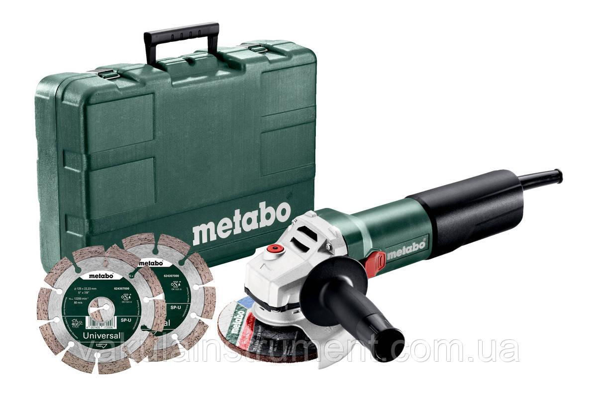 Угловая шлифовальная машина Metabo WQ 1100-125 SET (610035510)
