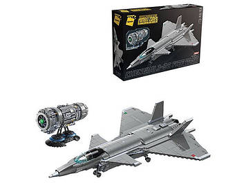Детский конструктор для мальчика Qman Игровой конструктор собирается в военный самолет Конструктор мальчику