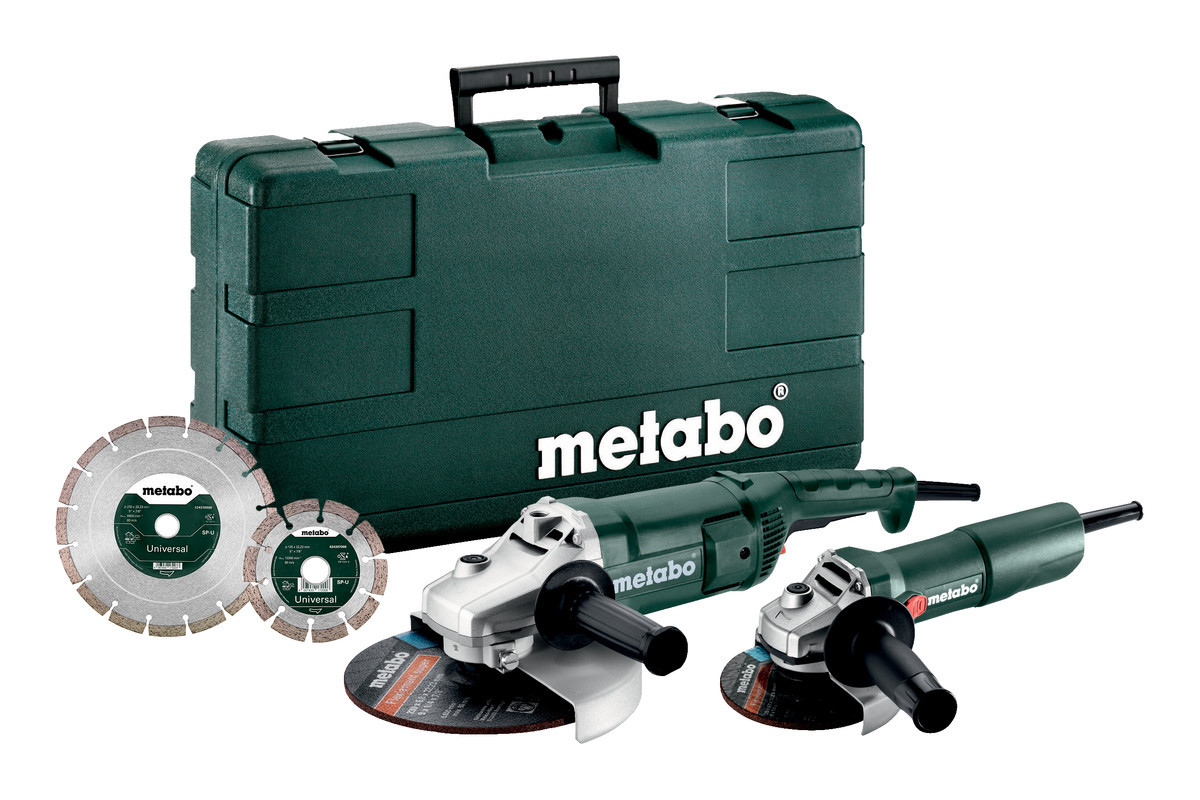 Угловая шлифовальная машина Metabo COMBO SET WEP 2200-230 + W 750-125 (685173510)