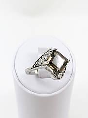 Кольцо серебряное с раухтопазом R-375 (р.17.5)