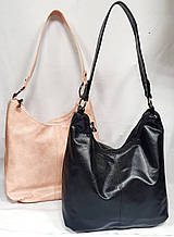 Жіночі повсякденні сумки на дві блискавки з довгою ручкою на плече 33*28 см