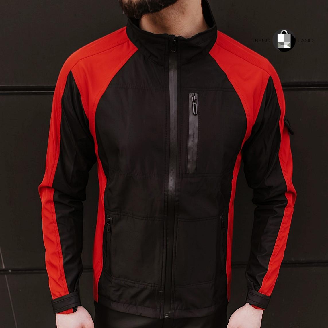 Розміри S-2XL | Чоловіча куртка вітровка Intruder Softshell Light 'iForce' Red Червона