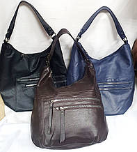 Жіночі повсякденні сумки на блискавці з ручкою на плече 28*32 см