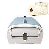 Тримач для туалетного паперу та серветок Ecoco з полкою голубой Органайзер у ванну кімнату, фото 4