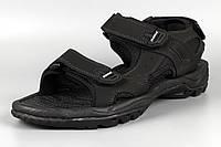 Сандалии босоножки мужские кожаные на липучке черные великаны Bona 775D-4 Бона Размеры 47, фото 1