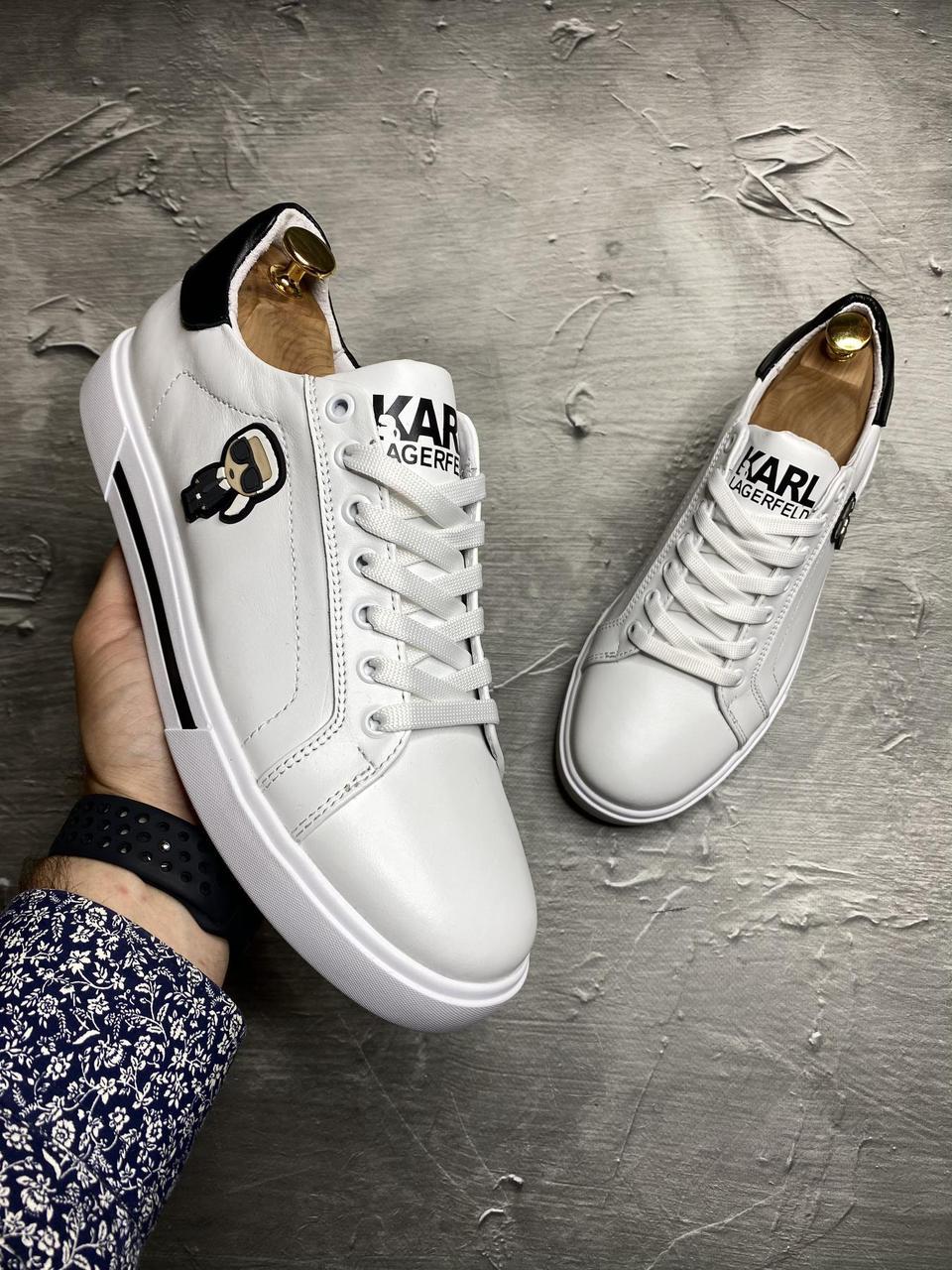 Karl Lagerfeld білі кеди
