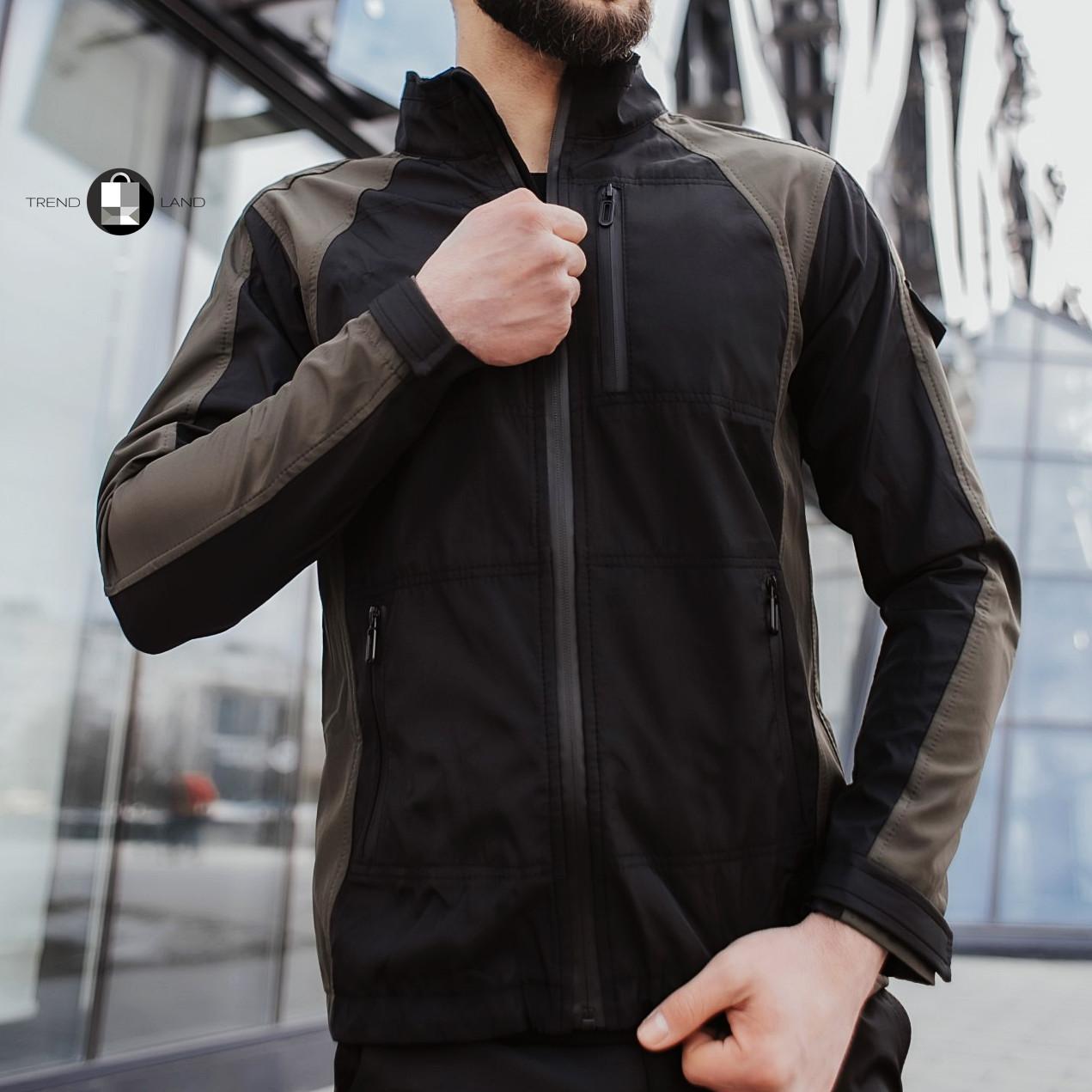 Розміри S-2XL   Чоловіча куртка вітровка Intruder Softshell Light 'iForce' Khaki Хакі