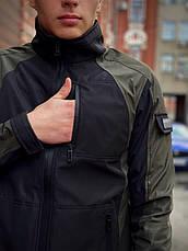 Розміри S-2XL   Чоловіча куртка вітровка Intruder Softshell Light 'iForce' Khaki Хакі, фото 3