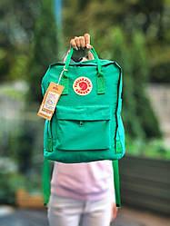 Женский спортивный рюкзак Kanken (зеленый) повседневный 111