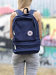 Cпортивный рюкзак Converse all star (синий) качественный водонепроницаемый 121