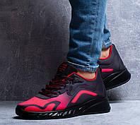 Мужские кроссовки Fashion (красно-черные) крутые текстильные кроссы 0284
