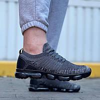 Мужские кроссовки молодежные (темно-серые) 0273 бомбовая обувь текстильная