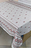 Лляна скатертина р. 120*150 на кухонний стіл N-801
