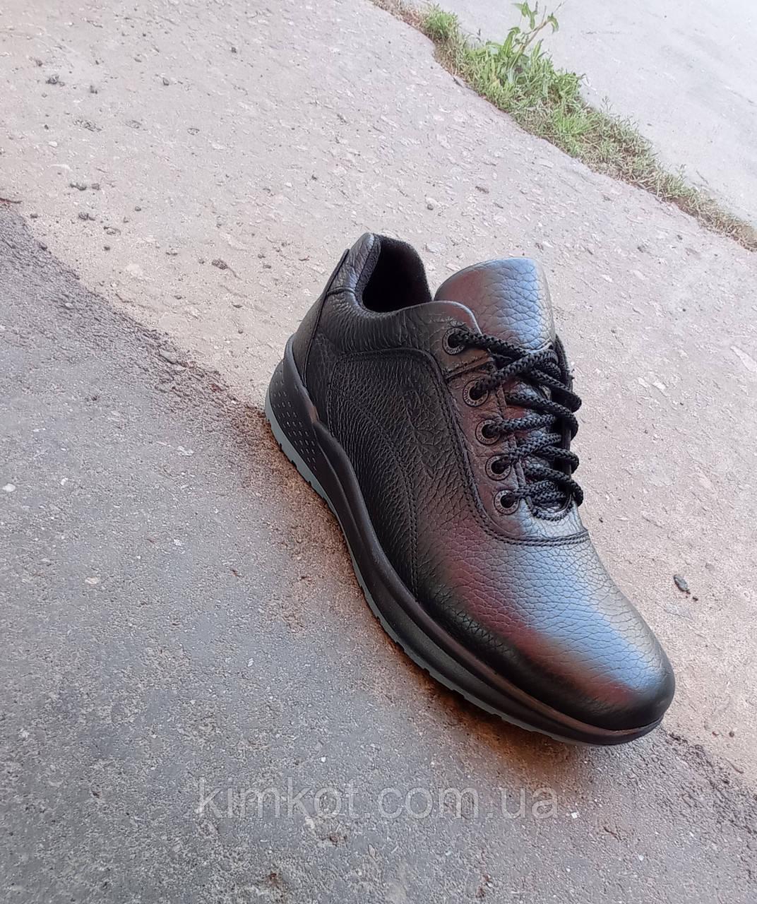 Кросівки чорні чоловічі шкіряні Ессо 40 -45 р-р
