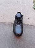 Кросівки чорні чоловічі шкіряні Ессо 40 -45 р-р, фото 8