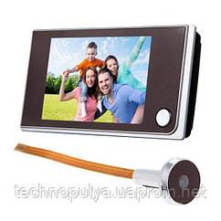 Відеовічко дверної бездротовий Kivos SF 515, 3.5 дюймовий екран Чорний (100082)