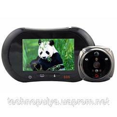 GSM відеовічко дверної - відеодомофон iHome2 Чорний (100110)
