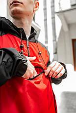 Размеры S-XL | Мужская куртка ветровка анорак Nike 'House' Red Красный, фото 3