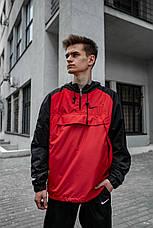 Размеры S-XL | Мужская куртка ветровка анорак Nike 'House' Red Красный, фото 2