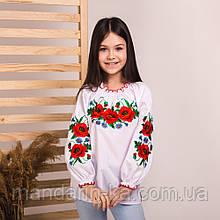 Вишиванка-блуза макове поле біла з вишивкою