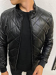 Мужская куртка осенне-зимняя крутая (черный) стильная на новый сезон А88805