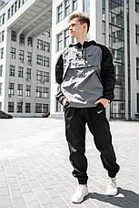 Розміри S-XL   Чоловіча куртка вітровка анорак Nike 'House' Grey Серий, фото 2