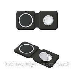 Бездротове зарядний пристрій ColorWay MagSafe Duo Charger 15W for iPhone Black (CW-CHW32Q-BK)