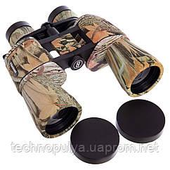 Бінокль BUSHNELL zoom 10-70х70 TY-1509 (пластик, скло, PVC-чохол, камуфляж ліс) (PT0018)