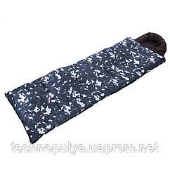 Спальний мішок-ковдра з капюшоном камуфляж UR SY-4798 (320г на м2, р-н 190+30х75см, від +5 до-17) (PT0240)