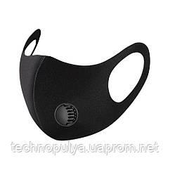 Маска Fashion Пітта для захисту органів дихання з клапаном 30 штук Чорна (Pitta+30)