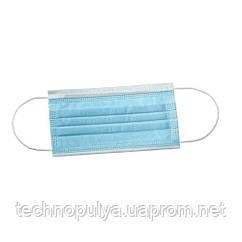 Маска медична медмаски штампованая 500 шт Синя