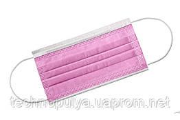 Маска медична медмаски штампованая 500 шт Рожева (500розоваямаска)