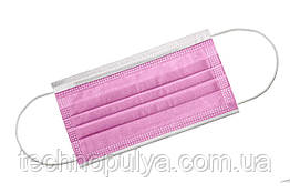 Маска медична медмаски штампованая 2000 шт Рожева (2000розоваямаска)