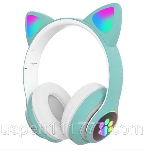 Бездротові навушники з котячими вушками Cat STN28 Зелені