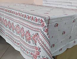 Лляна скатертина р. 120*150 на кухонний стіл N-810