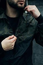 Розміри S-2XL | Чоловіча куртка/вітровка в стилі Nike Windrunner Jacket Khaki Сamouflage, фото 3