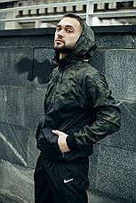 Розміри S-2XL | Чоловіча куртка/вітровка в стилі Nike Windrunner Jacket Khaki Сamouflage, фото 2