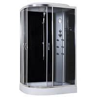 8890D/15-R, гидробокс Sansa с панелью управления, 120 х 80 см, рама сатин, стекло серое, заднее стекло черное