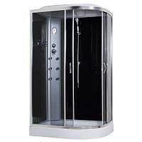 8890D/15-L, гидробокс Sansa с панелью управления, 120 х 80 см, рама сатин, стекло серое, заднее стекло черное
